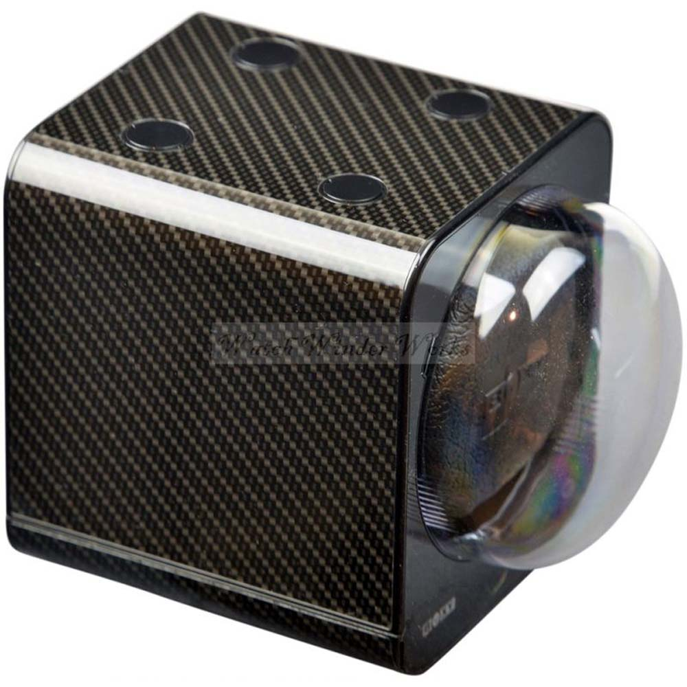 BOXY CARBON FIBRE LOOK Fancy Brick  Modular Automatic Watch Winder System x6: 6FCF-6B2 Brilliant