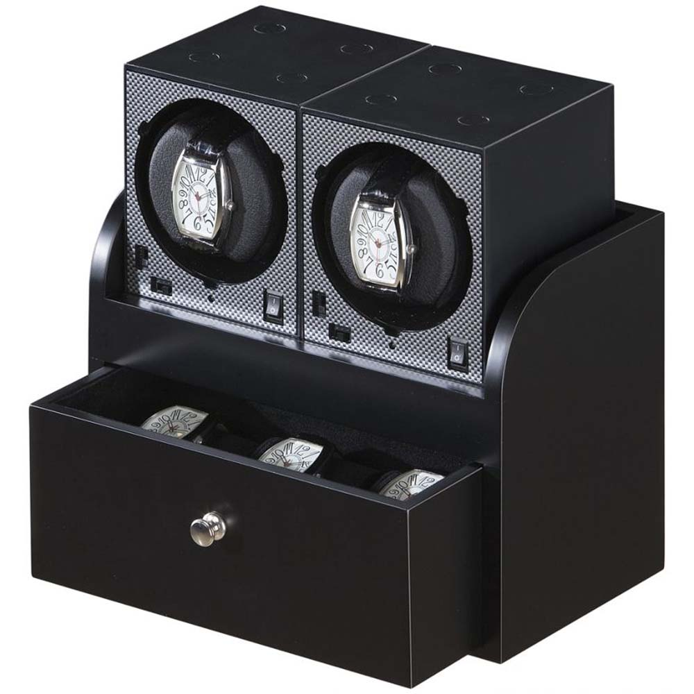 Luxury display dual automatic watch winder: System-2B2