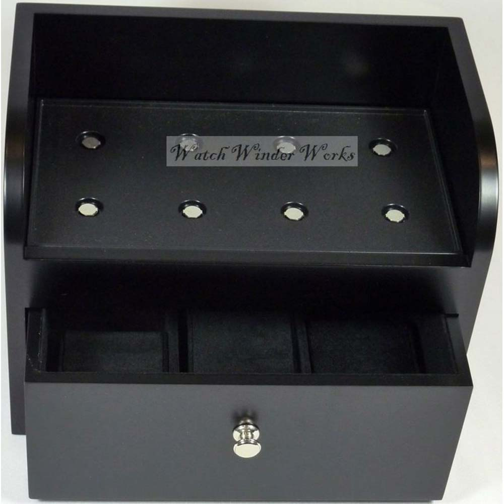 Fancy Brick Dual Automatic Watch Winder system-model: 2FB-B2-CLRS; expandable to 6 -BRILLIANT!