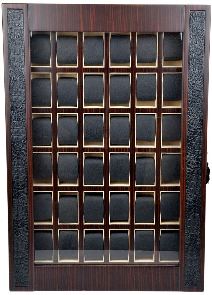 Professional Luxury Display Watch Storage Case for 36 timepieces-model:Armada-36MCM-Croc