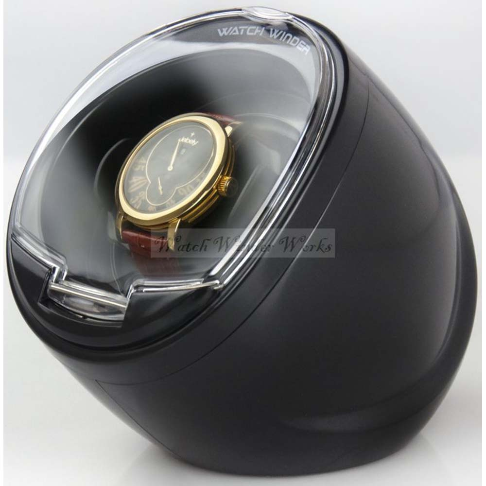 Single Display Automatic Watch Winder in pearlescent Black or glossy White