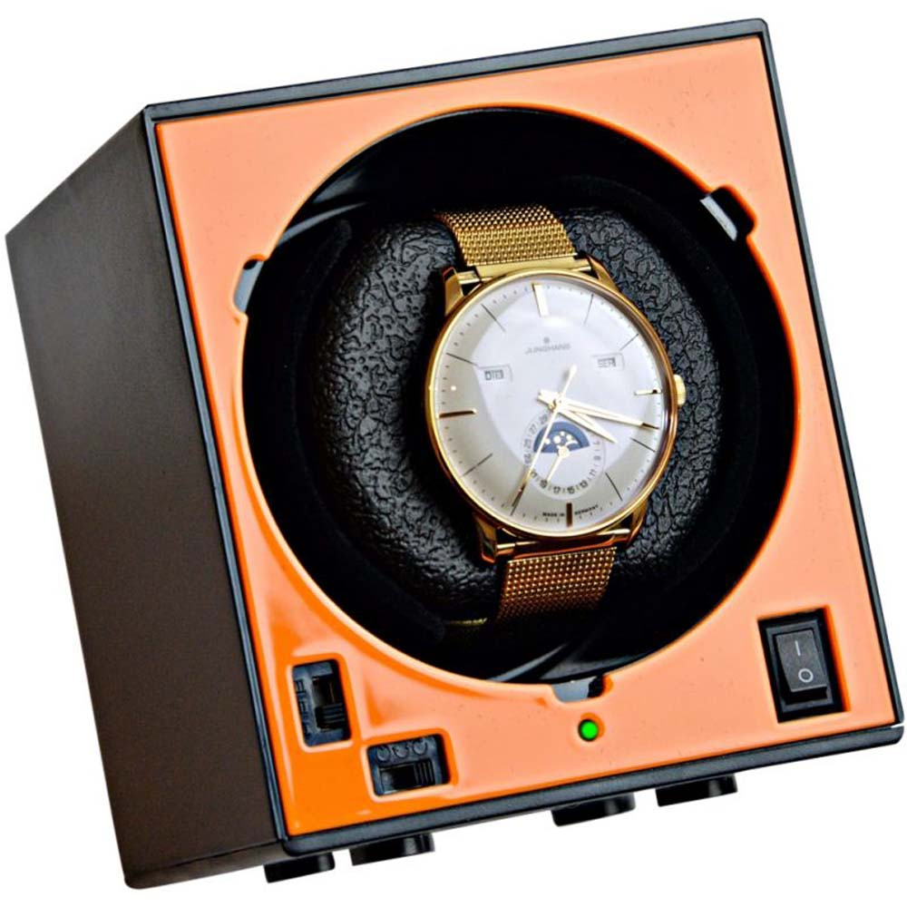 Luxury Display Boxy Brick Single Automatic Watch Winder: System-1B (includes AC adapter)