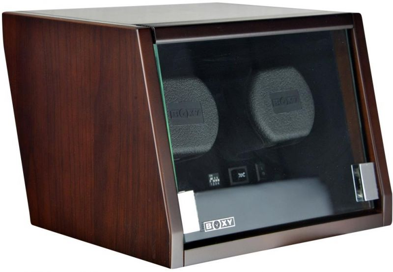 Luxury Display Dual Automatic Watch Winder model:Castle-02MB/WM- /LED Lights
