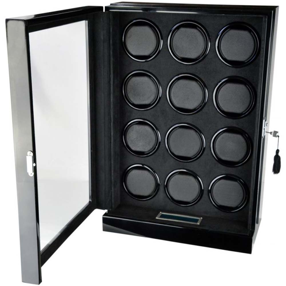 Luxury Display 12x Automatic Watch Winder- model: Chrono Valet-12 LED(RGB) LCD High Tech!