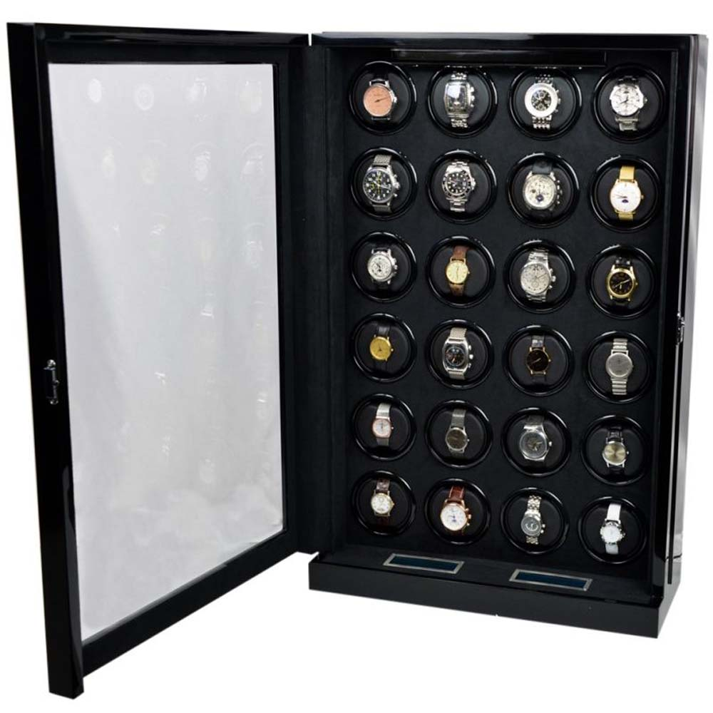 Luxury Display Automatic Watch Winder  for 24  watches; model: Chrono Valet Constellation-24