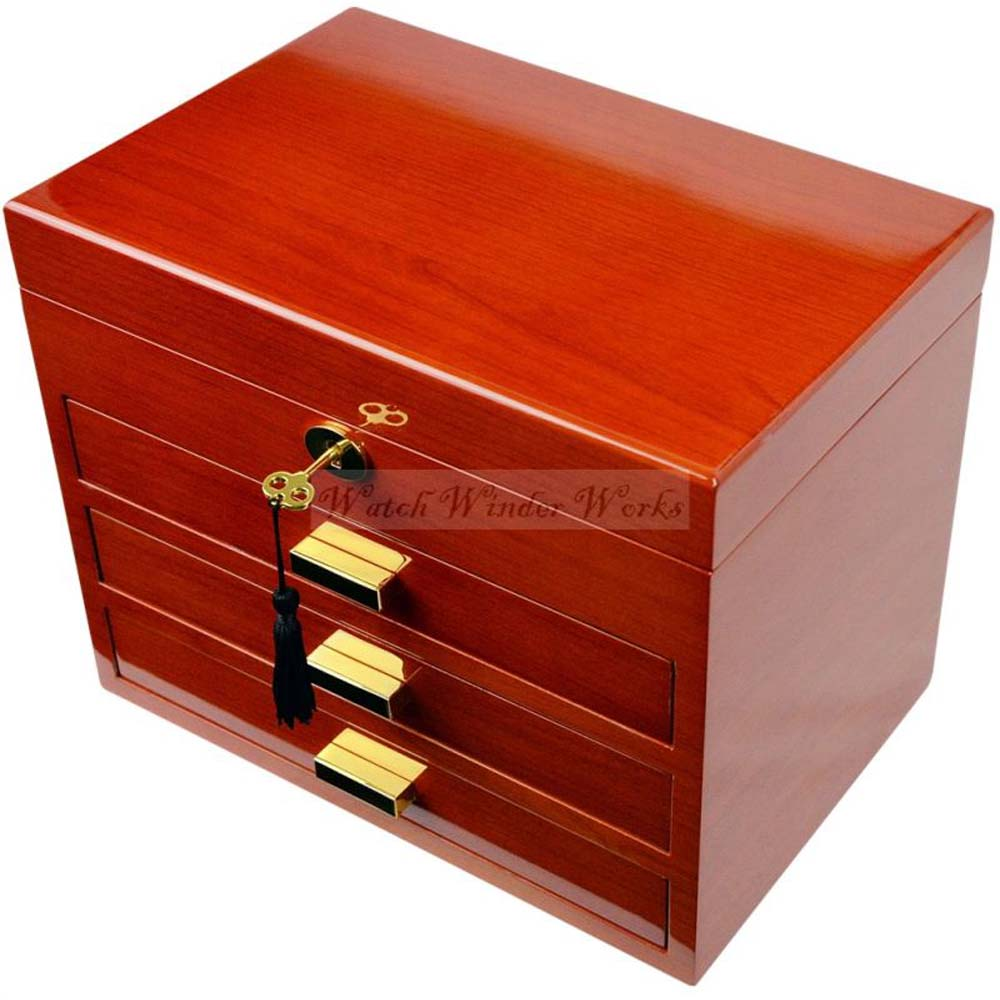 Luxury Jewellery Storage Box with securable trays -model: JewelleryPro-CH4WV