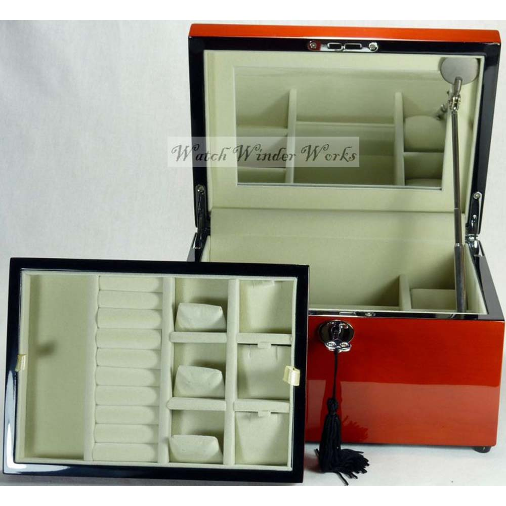 Luxury Jewellery/Watch Storage Box with removable  tray -model:JewelleryPro-25SP