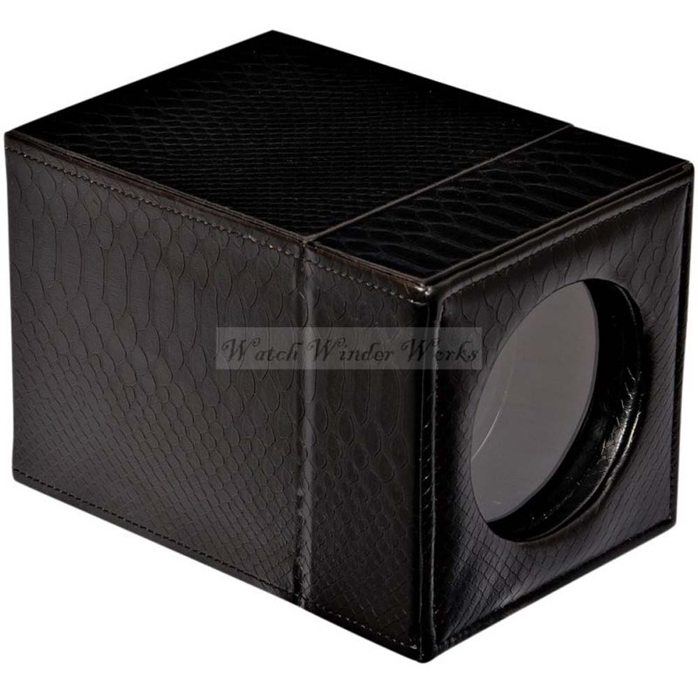 Luxury Display Single Automatic Watch Winder-model: Leathertex-1SNK Snake Skin