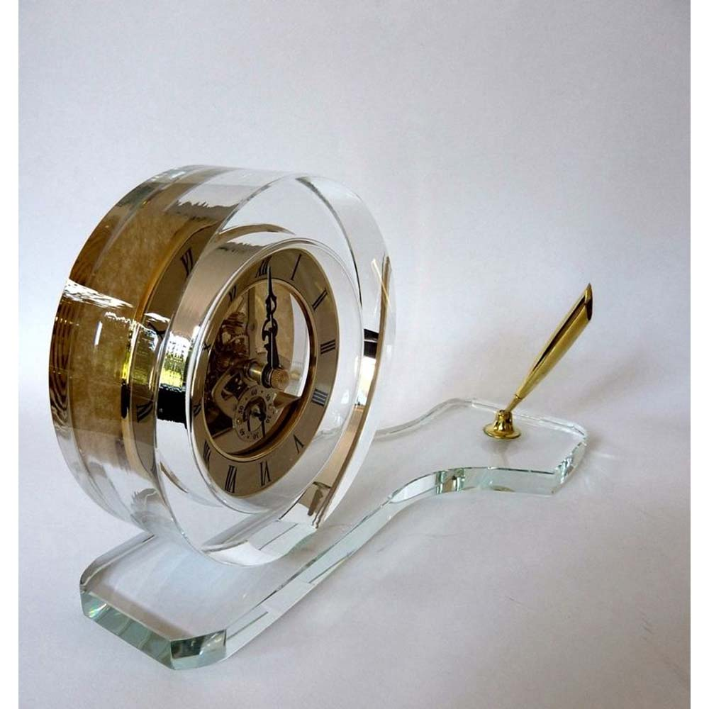 Crystal Table Clock (made of Jewellery quality K9 30% Lead Crystal)- model:MCLK-2