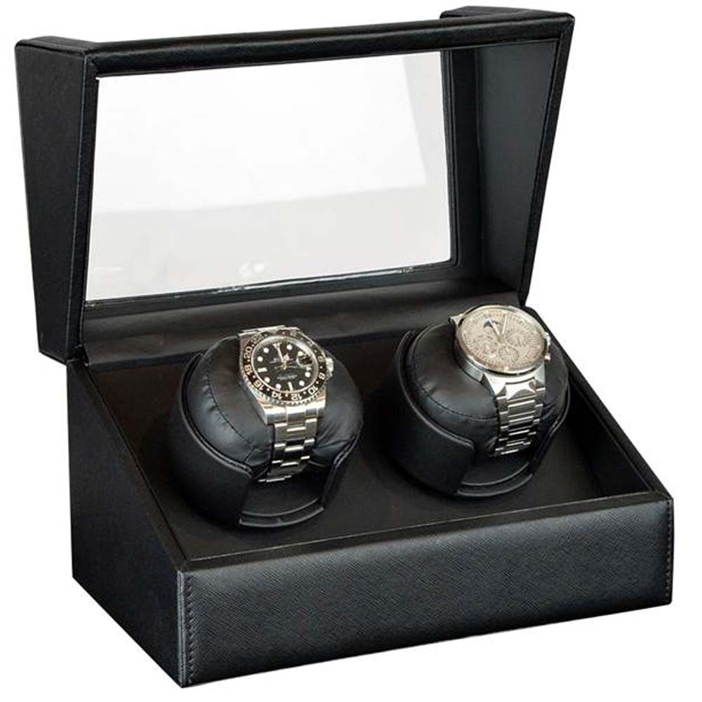 Luxury Display Dual Automatic Watch Winder: model: Orion-2LGV/2LBK