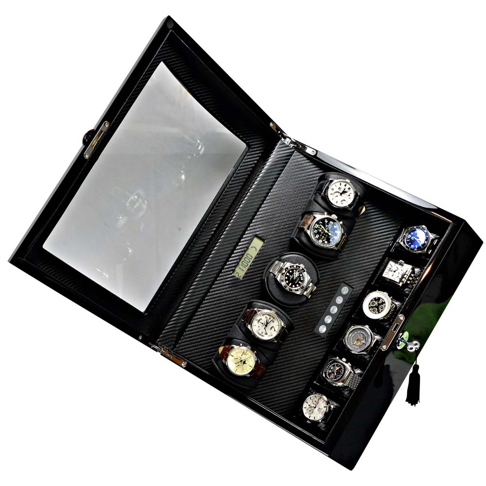 Luxury Display 5+6 Automatic Watch Winder     model: Pegasus-5BKCF6-LCD2 High-Tech!