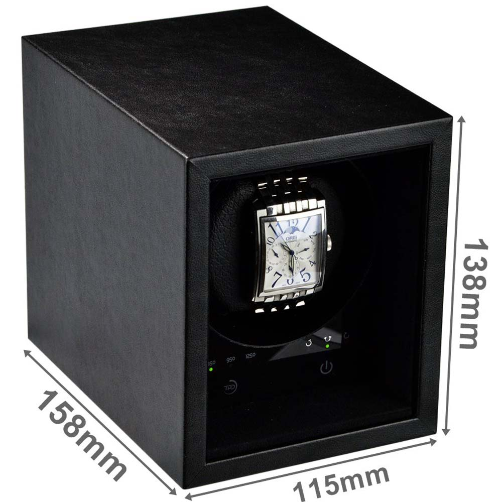 Eco Safe-01- Budget priced single automatic watch winder for placement in a safe; also suitable as a stand-alone winder