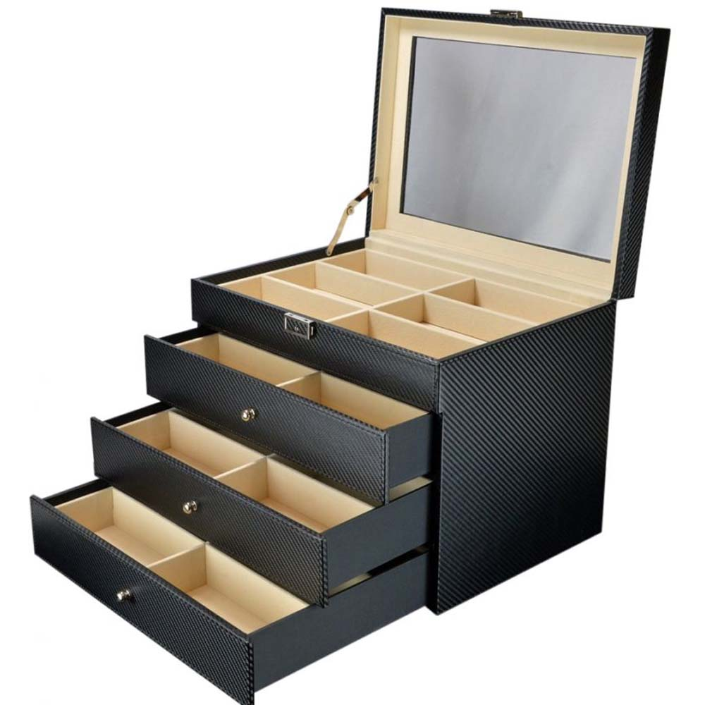 Luxury Display Sunglasses Collection Case/Organiser for 24 sunglasses-model: SunglassesPro-24CFCV