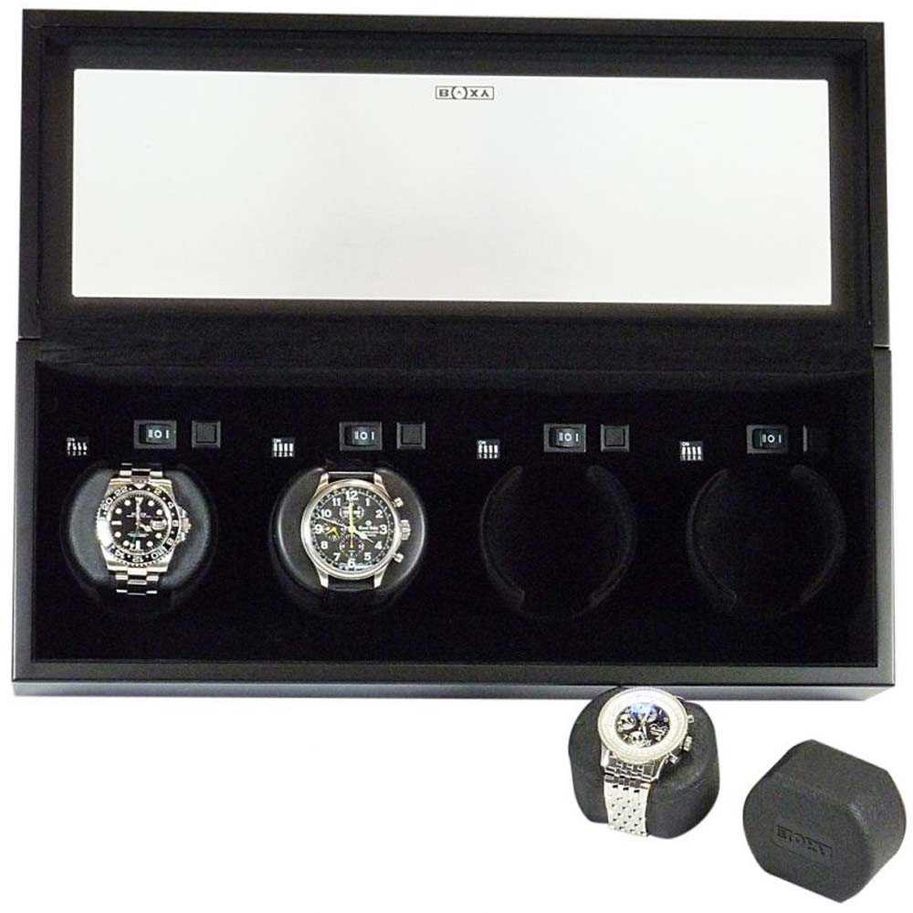 Luxury Display Quad Automatic Watch Winder: VISTA-04MB/04WM/04RWG