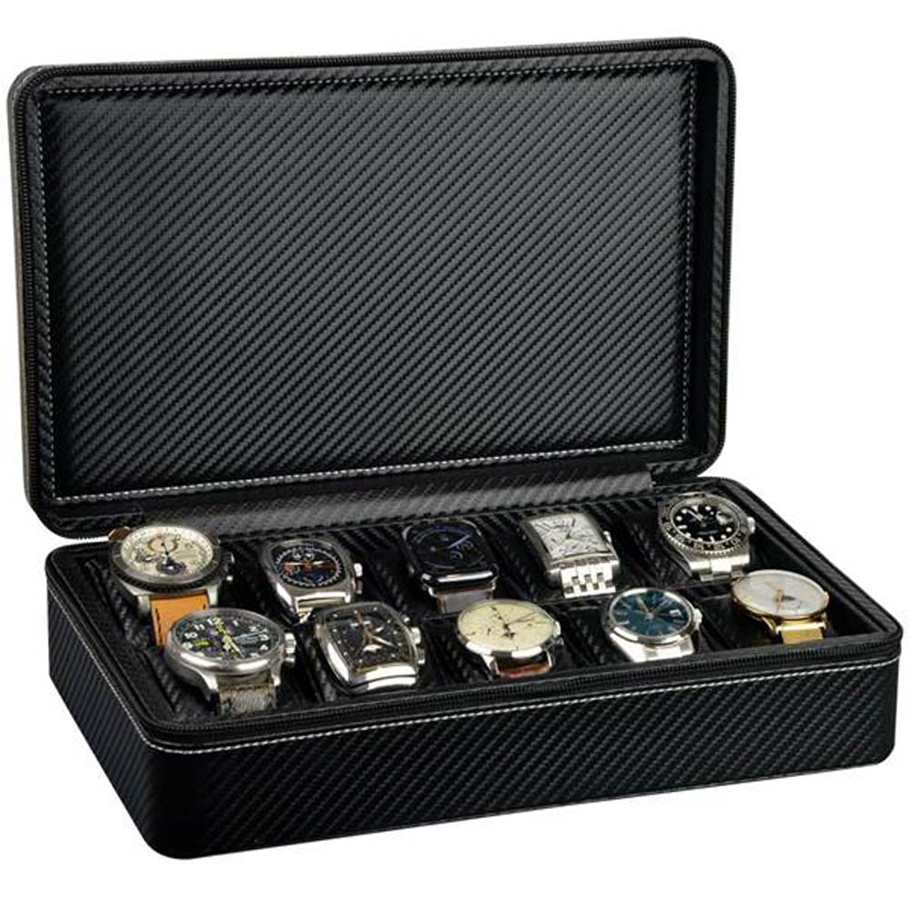 Luxury Watch Collection/Storage Case for 10 watches- Model: Watchpro-10CF