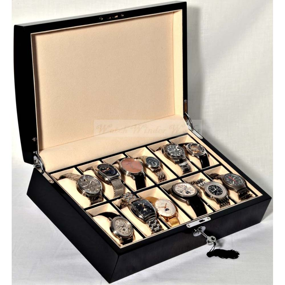 Luxury Watch Collection/Storage Box for 12 watches-model:Watchpro-12BTCV Dual Colour