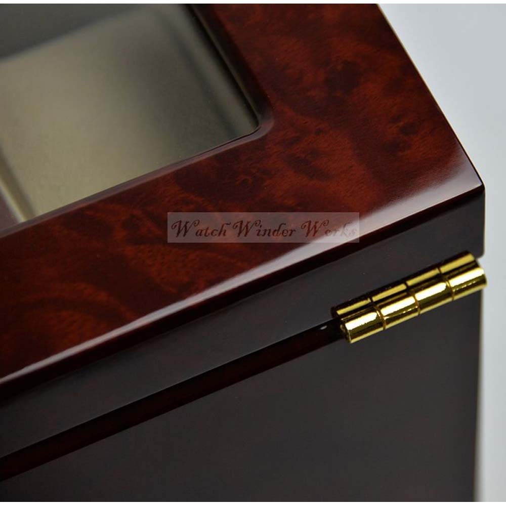 Luxury Display Watch Collection/Storage Box for 16 watches-model:Watchpro-16BWGV Faux Gold Plated