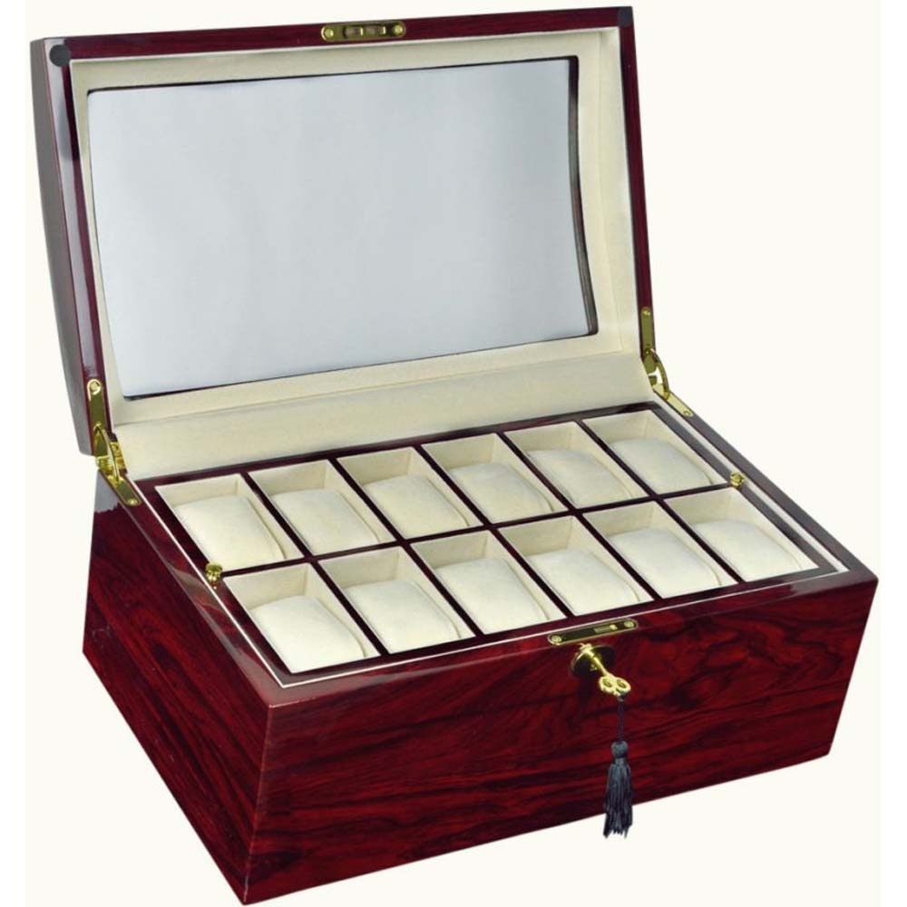 Luxury Display Watch Storage Case for 24 watches-model:WatchpPro-24RWCV/WNCOV
