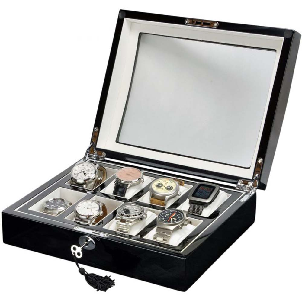 Luxury Display Watch Collection/Storage Box FOR 8 watches-model:Watchpro-8BKWV/WNCOV
