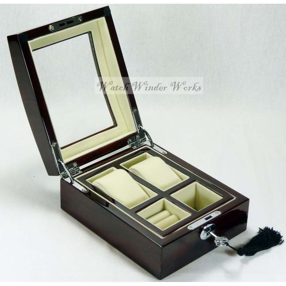 Luxury Display Watch Collection/Storage Box for 2 watches model:Watchpro-2RC Combo