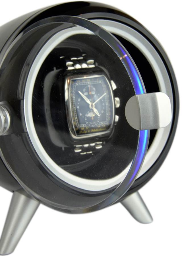 Luxury Display Single Automatic Watch Winder model: XOR-1BK/WHT