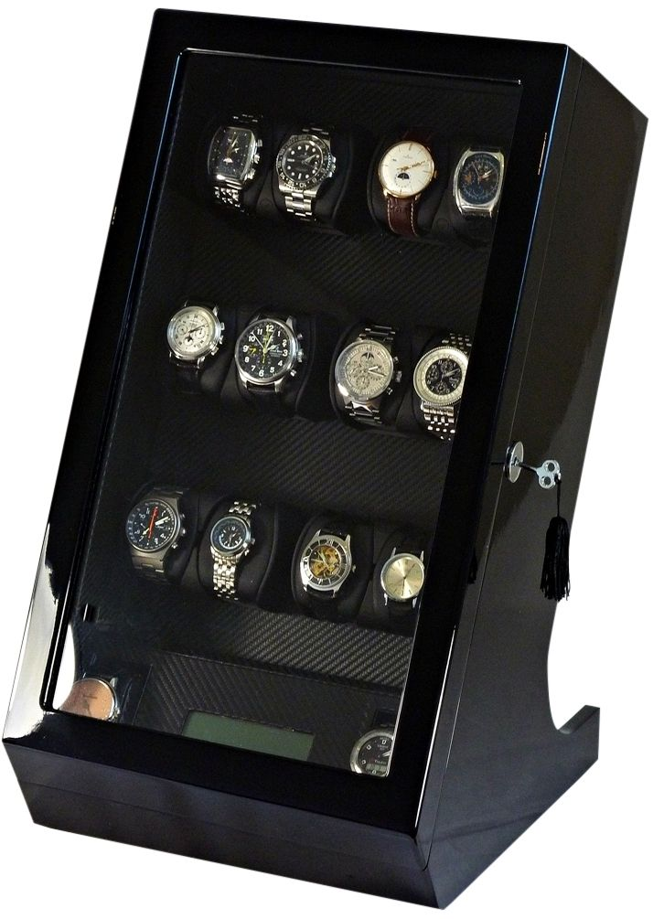 Ultimate Luxury Display Automatic Watch Winder for 12 Watches +2: Centaurus-12BCF/MHCV/OBGV
