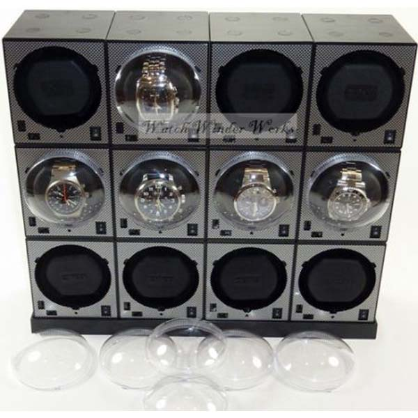 Luxury Display Automatic Boxy Brick Watch Winder System for 12 Watches-12E4