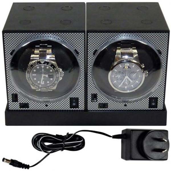 Luxury Display Dual Automatic Boxy Brick watch winder system: -2E2