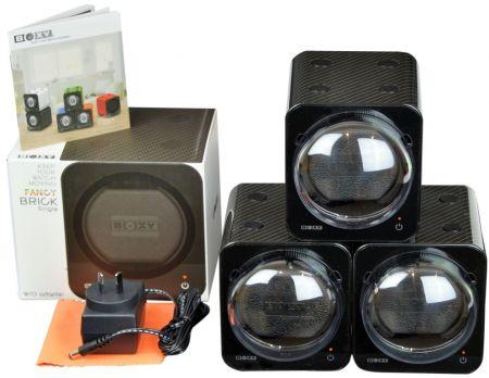 BOXY CARBON FIBRE LOOK Fancy Brick Triple Modular Automatic Watch Winder System: 3FCF-3B Brilliant