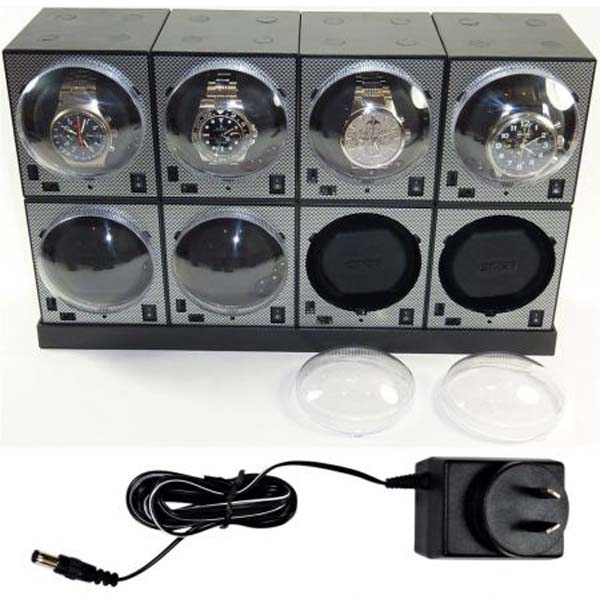 Luxury display Automatic Watch Winder System for 8 Watches: System-8E4