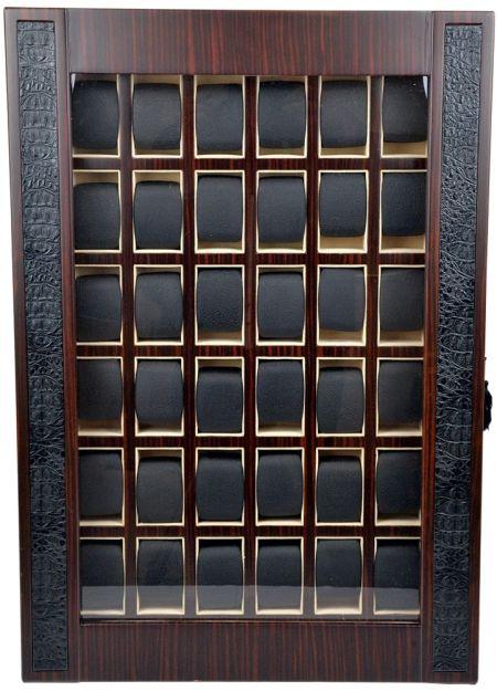 Professional Luxury Display Watch Storage Case for 36 timepieces-model:Armada-36MCM-Croc