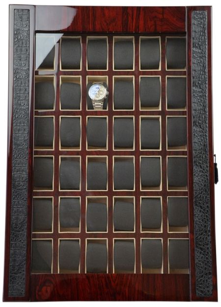 Professional Luxury Watch Storage Case for 36 timepieces-model:Armada-36RWG-Croc