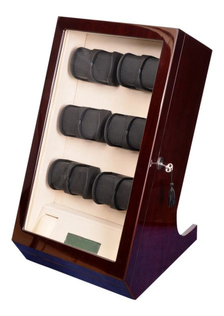 Ultimate Luxury Display Automatic Watch Winder for 12 Watches +2: Centaurus-12MHCV-LED