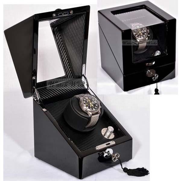 Luxury Display Single Automatic Watch Winder : Ebonaire-1BKL-Chrome