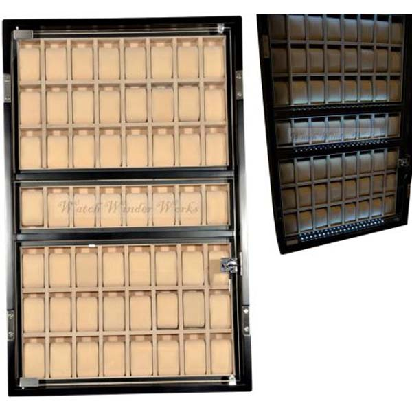 Professional Luxury Display Watch Storage Case for 56 watches-Grand Armada-56AO-LED