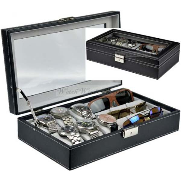 Luxury Watch & Sunglasses Organiser/Collection Case model: WS Combo-W6S3