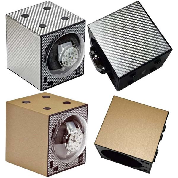 Da Vinci Collection Standard Add-On Boxy Brick Automatic Watch Winder (No AC Adapter)