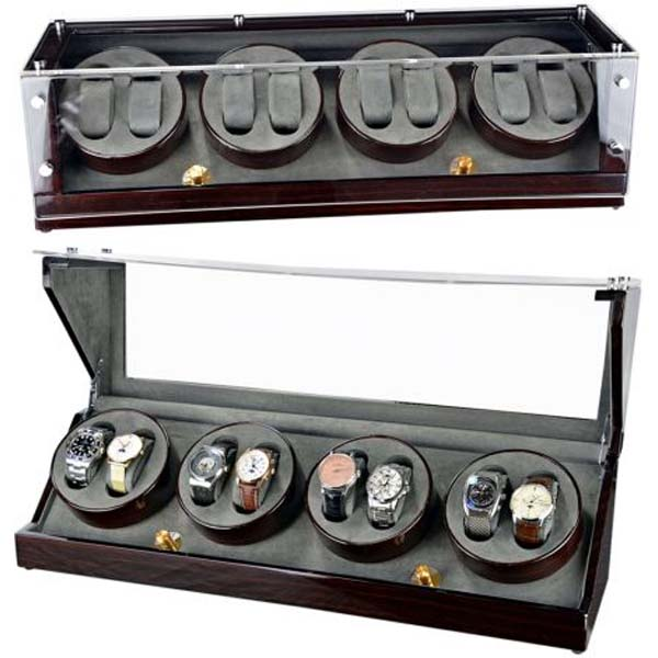 Luxury Display Automatic Watch Winder for 8 watches; model: Galaxy-8MCGV-Brass...Stunning!