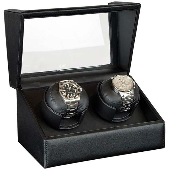 Luxury Display Dual Automatic Watch Winder: model: Orion-2LBK