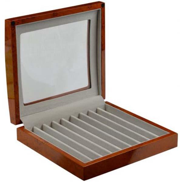 Luxury display Pen collection/storage box for 9 Pens PenPro-9RWBG